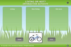 Living or non-living? Interactive.