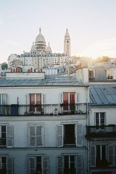 High above the Parisian rooftops