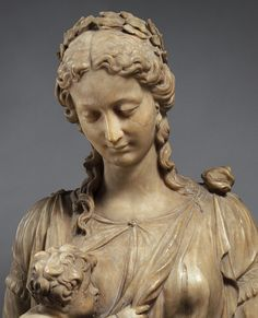 Alabaster Statue of Charity, Detail, Franco-Flemish, c. mid-16th century