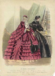 1850 Women's Fashion Plates from Paris   History of Fashion Design