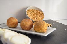 Bolas de Quinoa y Mozarella. Delicioso snack. Dales un toque de calor y disfruta de su sabor y textura.