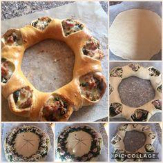 Corona di pizza con salsicce friarielli e mozzarella grattugiata
