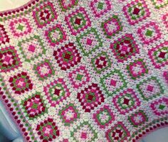 inspiración mantas granny square