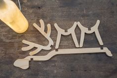 Wood Projects product image for KongMing Deer Shaped LED Light - Woodworking Tools List, Woodworking Patterns, Easy Woodworking Projects, Popular Woodworking, Diy Wood Projects, Woodworking Furniture, Wood Furniture, Woodworking Equipment, Woodworking Apron
