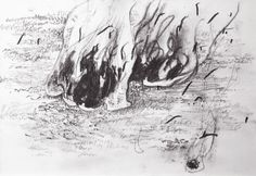 uncontrollable scene, 18X13cm, pencil on kent paper, 2014  #art #artwork #drawing