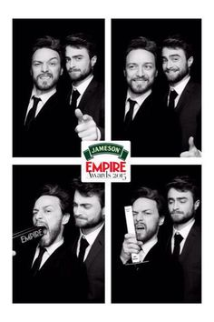 This is so cool! James McAvoy & Daniel Radcliffe - Jameson Empire Awards 2015