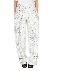 Dye splattered pants  |  Shop now: www.thesecretlabel.com