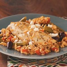 Easy Mediterranean Chicken -- simple, and fast! Can't wait to try it