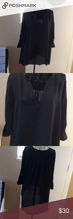 Blouse 100%polyester 3/4 sleeves v neck Alfani Tops Blouses