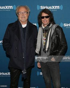 Mick Jones and Kelly Hansen of Foreigner visits the SiriusXM Studios on February 4, 2014 in New York City.