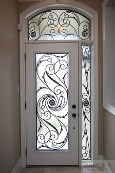 Wrought Iron Inserts Gallery Front Door Doors Metal