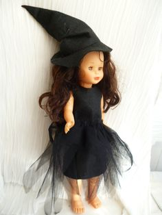 MI DISFRAZ DE HALLOWEEN Softies, Nancy Doll, American Girl, Doll Clothes, Barbie, Tulle, High Neck Dress, Costumes, Dresses