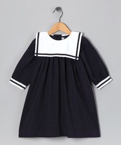 Take a look at this Navy Corduroy Sailor Dress - Infant & Toddler on zulily today!