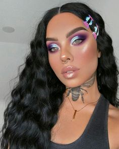 10 Pretty Eyeshadow Looks for Day and Evening Makeup Eye Looks, Cute Makeup, Eyeshadow Looks, Glam Makeup, Gorgeous Makeup, Makeup Inspo, Makeup Inspiration, Beauty Makeup, Hair Makeup