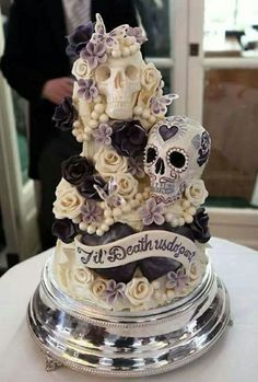 One Of The Greatest Wedding Cakes I've Ever Seen   Love the cake...it looks delicious
