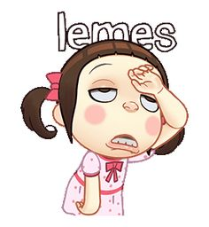 LINE Official Stickers - Neneng Gesrek: Little Crazy Girl Example with GIF Animation Cartoon Stickers, Cartoon Jokes, Baby Cartoon, Cartoon Images, Animated Movie Posters, Animated Gif, Cute Love Cartoons, Cute Love Gif, Crazy Girls