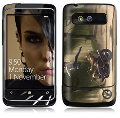The Girl with the Dragon Tattoo HTC 7 Trophy skin