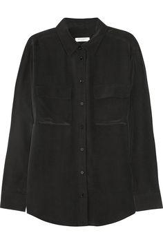 Equipment Signature washed-silk shirt NET-A-PORTER.COM