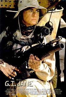 GI Jane - A woman dares to enter the Navy seal, and an example of woman on woman hate - care of a very ambitious Senator.  Gender politics are a trump card that either side will play