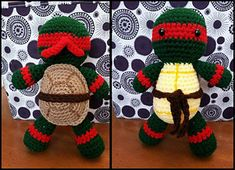 Ravelry: Raphael inspired plush pattern by Courtney Deley-free pattern Plush Pattern, Crochet Doll Pattern, Crochet Toys Patterns, Amigurumi Patterns, Stuffed Toys Patterns, Crochet Dolls, Doll Patterns, Free Pattern, Amigurumi Doll