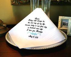 Groom Handkerchief Hankie  Hanky  Best day of my by MisterandMrs, $22.95