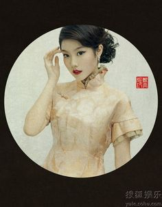 "Old Shanghai Lady with red lips ""老上海""女人 尽显风情万种_娱乐图集"