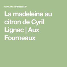 La madeleine au citron de Cyril Lignac | Aux Fourneaux