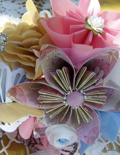 Small Origami Wedding Bouquet by GracelinePaperStudio on Etsy, $20.00