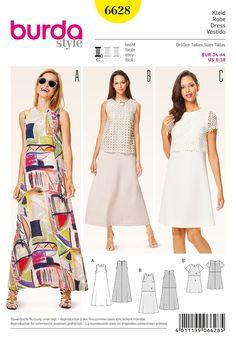 Misses Dress Burda Sewing Pattern 6628. Size 8-18.