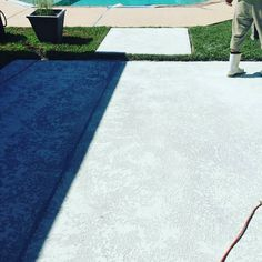 This is the texture before a coat of paint is applied! Give us a call to restore your deck today!  504-270-4874  #bigeasypoolsllc #bigeasypools #parishpools #neworleans #batonrouge #hammond #prairieville #metairie #kenner #harahan #riverridge #gardendistrict #frenchquarter #highland #Nola #BR #RENOVATIONS #weeklymaintenance #pressurewashing #acidwashing #drainandcleanseason #licensed #thesafetyprofessionals #WEDOITALL #weconsult by bigeasypools