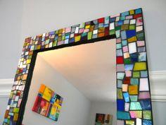 Huge Mosaic Mirror  Jewel Tones and Pastel by StarryNightStudios99