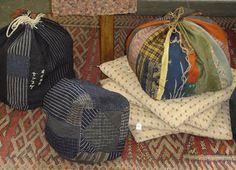 Antique Japanese Komebukuro (rice bags)