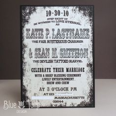 Invitation Example: inspired by vintage circus poster