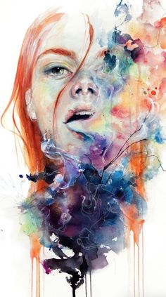 This Thing Called Art Is Really Dangerous Fine Art Print by Agnes Cecile. Authentic giclee print artwork on paper or canvas. Wall Art purchases directly support the artist. Watercolor Portraits, Watercolor Paintings, Watercolor Trees, Watercolor Landscape, Abstract Paintings, Oil Paintings, Painting Art, Watercolour, Agnes Cecile