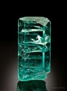 "Beryl var. Aquamarine - ""The Helix"" Marambaia, Carai, Jequitinhonha Valley, Minas Gerais, Brazil Large Cabinet, 24.5 x 12.6 x 9.3 cm"
