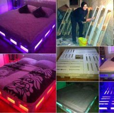 Bed Frame Made From Pellets!
