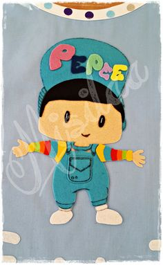Pepee Figürlü Çocuk Önlüğü (İsim Yazılı, Keçe Süslemeli) * Etkinlik Önlüğü * Boyama Önlüğü * Mutfak Önlüğü * Keçe Felt Feltro Handmade * Kids Apron / www.misilaa.com