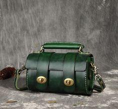 Full Grain Leather Satchel Bag, Women Designer Handbag FY208