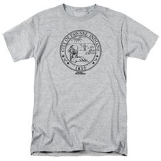 The Parks & Recreation - Pawnee Seal Adult T-Shirt is officially licensed, made of 100% pre-shrunk cotton and available in athletic heather. Whether you're a Parks & Recreation Super fan or just looki