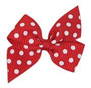 02222012-5-8 Swiss dot DIY mini pinwheel bow
