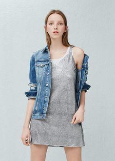 Kleid mit metallic-effekt | MANGO