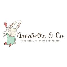 Premade Logo - Rabbit & Kite Premade Logo Design - Customized with Your Business Name!