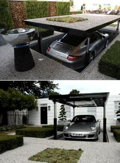 They can't steal your Porshe if you construct an underground, camouflaged, elevator-operated hidden garage under your garden- can they?