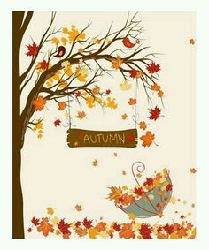 Fall Umbrella by Secretly Spoiled Graphic Art - Fall Crafts For Toddlers Decoration Creche, Decoration Vitrine, Fall Crafts For Toddlers, Toddler Crafts, Autumn Art, Autumn Leaves, Fall Arts And Crafts, Umbrella Art, Fall Preschool