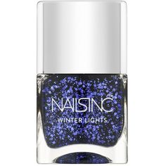 Nails inc Buckingham Square Sequined Nail Polish/0.47 oz. ($15) ❤ liked on Polyvore featuring beauty products, nail care, nail polish, nail, apparel & accessories, no color, nails inc. and nails inc nail polish