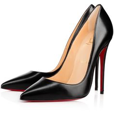 Christian Louboutin So Kate (€565) ❤ liked on Polyvore featuring shoes, pumps, christian louboutin, louboutin, heels, black, black high heel pumps, christian louboutin pumps, high heel shoes and heels stilettos