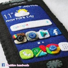 handmade Galaxy S7 Edge pocket cozy with Instagram, facebook, Google map, Google Chrome, Google play, Android Apps