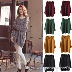 0d33eccca5 2019 Ladies Oversized Knitted Sweater Batwing Sleeve Tops Cardigan Loose  Outwear Coat From Gonglangdianzi01