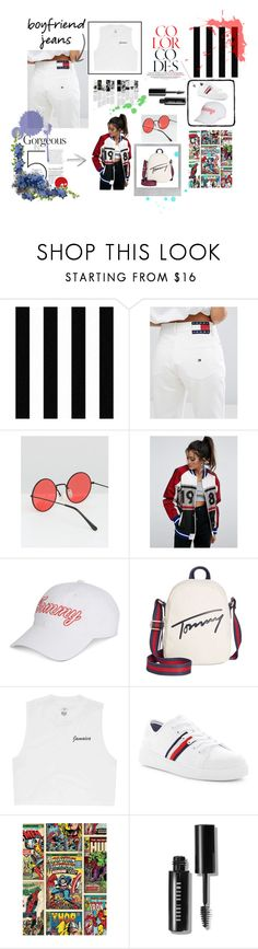 """""""like what you express"""" by nereafri-nf ❤ liked on Polyvore featuring Graham & Brown, Tommy Hilfiger, ASOS, Polaroid, Billabong, Marvel and Bobbi Brown Cosmetics"""