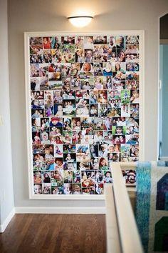 fotowand selber machen fotokollage basteln farbbilder fotos
